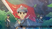 S2693 朗诵示范:一袋干粮 少儿爱国 爱党 诗歌 演讲朗诵 七一英雄烈士 大屏背景视频素材