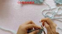 正针平针搓板针围巾编织视频粗毛线棒针线新手织围巾视频