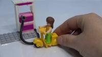 粉色梦想益智积木--小型加油站