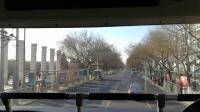 2019北京旅行,双层公交大巴士二层拍摄北京街景1