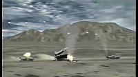 实拍美军末敏弹爆炸瞬间 空中直坠击毁坦克