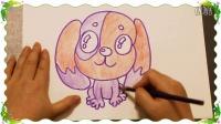 画大头狗,教宝贝画画入门基础教学,怎么教儿童快速学简笔画画技巧教程,乐成宝贝
