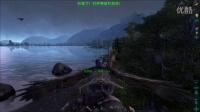 方舟生存进化-瓦尔哈拉浮空岛-39-棘背龙玩蹦极-君莫言