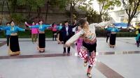 西宁新宁广场藏族锅庄视频1《教学版》