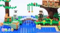 【智趣亲子】乐高我的世界积木玩具拼装:杰西和艾利克斯的丛林树屋