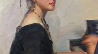 油画教程 钢琴姑娘 视频教学 第五集