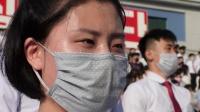 朝鲜的青年学生举行抗议集会