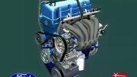 汽车发动机装配 润滑 冷却 运行