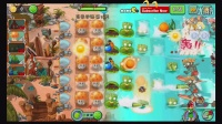 植物大战僵尸2中文版巨浪沙滩-新植物保龄球(4阶带装扮)