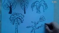 """儿童粉笔画树""""根""""李老师学画画"""