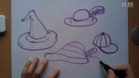 儿童画帽子根李老师学画画