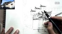 钢笔淡彩建筑风景12-1【文抑】