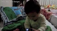 亲子 二胎后的第三个宝宝 玩玩具闹钟幻灯片--宇航员 火箭 月亮 宇宙