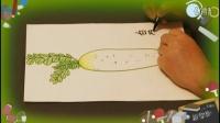 画白萝卜,儿童学绘画技巧教学,教少儿学画画.乐成宝贝