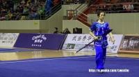 2016年全国武术套路冠军赛(传统项目)女子朴刀大刀 009 魏红(广东)第一名