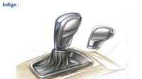 工业设计效果图表达——汽车换挡杆马克笔手绘