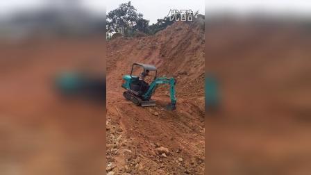 精彩 玉工YG15-8迷你小型挖掘机 挖掘机表演