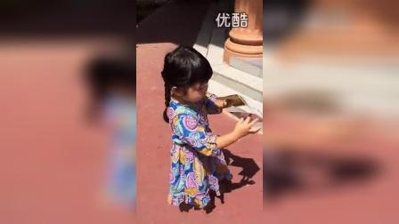 【粉红豹】曹格女儿包子姐姐曹华恩(grace)无聊,走路!