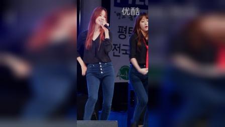 【Angelicalu】EXID [安希妍] - 上下 (平澤摇滚音乐节祝贺演出 - 14.10.04)