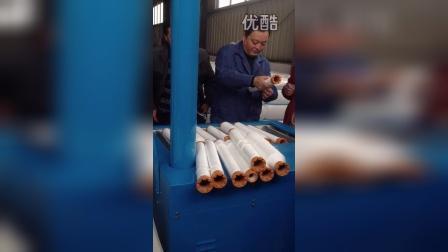 新型气流式粗纱头开松机在江苏淮棉纺织集团使用现场!