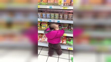 20150209妹妹塘桥超市爬货架