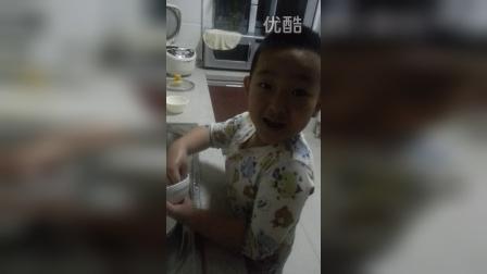 儿子洗碗,2015年元月