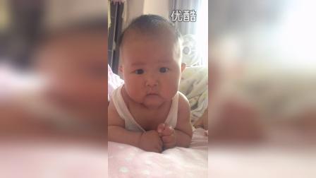 可爱萌娃姜米团2015年1月28日