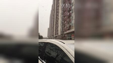 北京大雪,据说慢动作可以拍出大片即视感