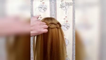 女神扣  唯美 简易编发 发型