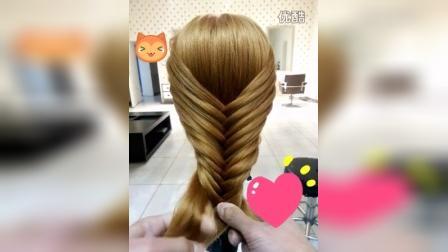 唯美鱼骨辫发型