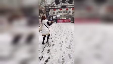 在青岛下雪了