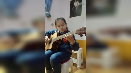 醴陵蓝指琴行吉他学员演奏 绿袖子