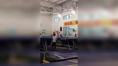 姐姐参加广西区运会蹦床比赛20150725