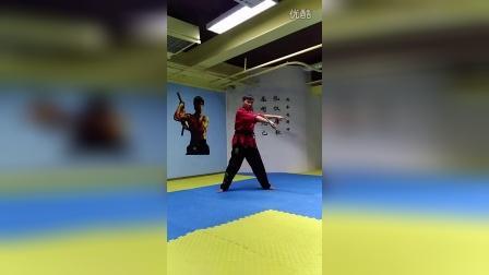 【双节棍套路教学】北京棍舞 初学者第二套 第三部分