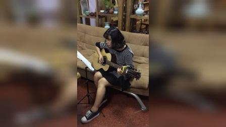 """""""弦之翼""""吉他初级学员弹唱""""东风破"""""""