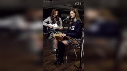 (PLEDIS Girlz) 周洁琼&白胜妍 吉他练习影像