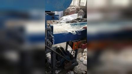 渔网丝切断设备 粉碎机 碎布机20161104