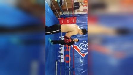 全运冠军李超指导沈阳搏荣拳击俱乐部张成博直拳摆拳手靶训练