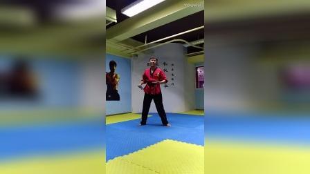 【双节棍套路教学】北京棍舞 初学者第二套 第四部分