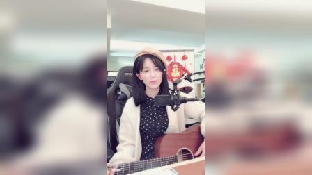 女生吉他弹唱,全世界失眠 丹丹来了