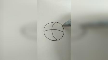 每天一画篮球