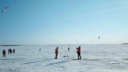 """呼伦贝尔市积极挖掘冬季冰雪资源,开拓新兴体育项目""""风筝滑雪"""""""
