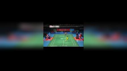 桃田贤斗VS李宗伟 四方球打法 羽毛球比赛多拍高清视频
