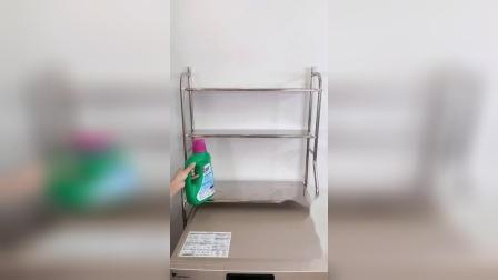 升级版的洗衣机置物架,加厚不锈钢材质,充分利用卫生间的空间了。我的美好生活