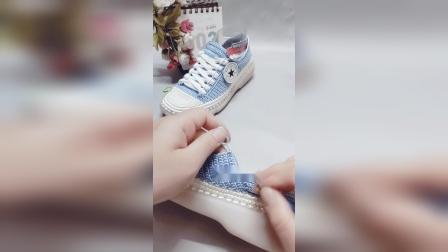 手工板鞋教程(中) 小芬手工钩鞋 扁线钩制