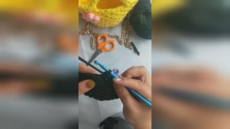 新款泫雅同款布条线包包钩织教程手机钥匙化妆品手拿斜挎包包