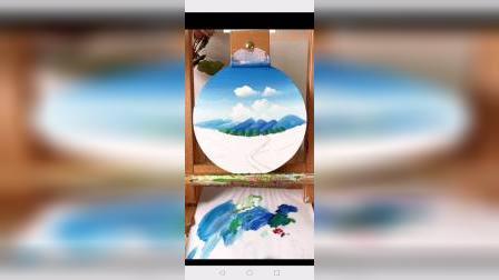 《丙烯画中级》6.山间田野
