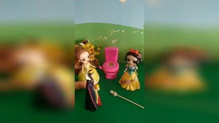 宝宝益智玩具:贝儿王后做坏事被国王发现了