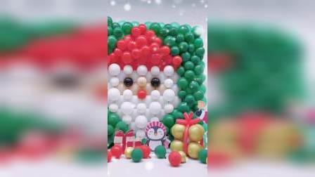 圣诞老人气球墙教程