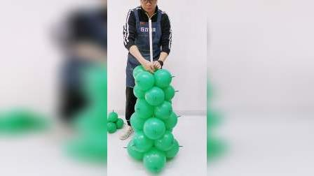 大中小3款气球圣诞树制作教程